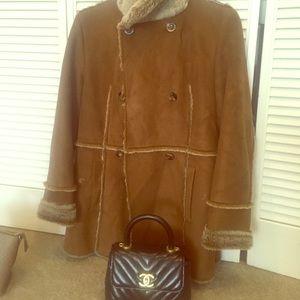 FAUX FUR COAT brown super chic, soft & warm jacket